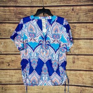 NWT Chico's Paisley Boho blouse 1